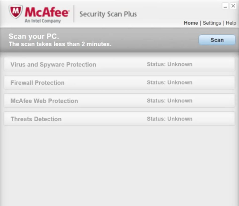 Photo of McAfee Security Scan Plus