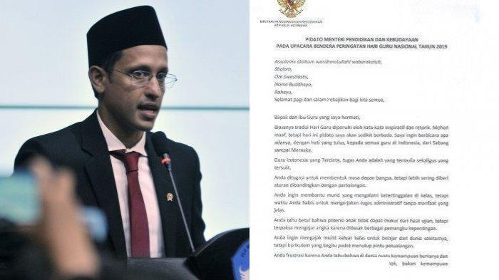 Photo of Unggahan Pidato di Hari Guru Viral, Nadiem Tuai Pujian dari Netizen